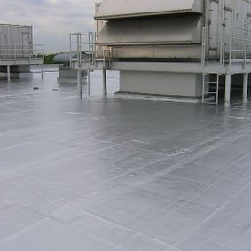 metal flat top roofing system