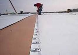 TPO roofing system on a commercial building