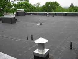 EPDM roofing system on a flat top roof